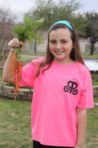 """carrot girl"" her 5th-grade year"
